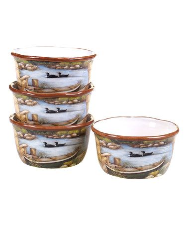 This Lake Life Ice Cream Bowl - Set of Four is perfect! #zulilyfinds