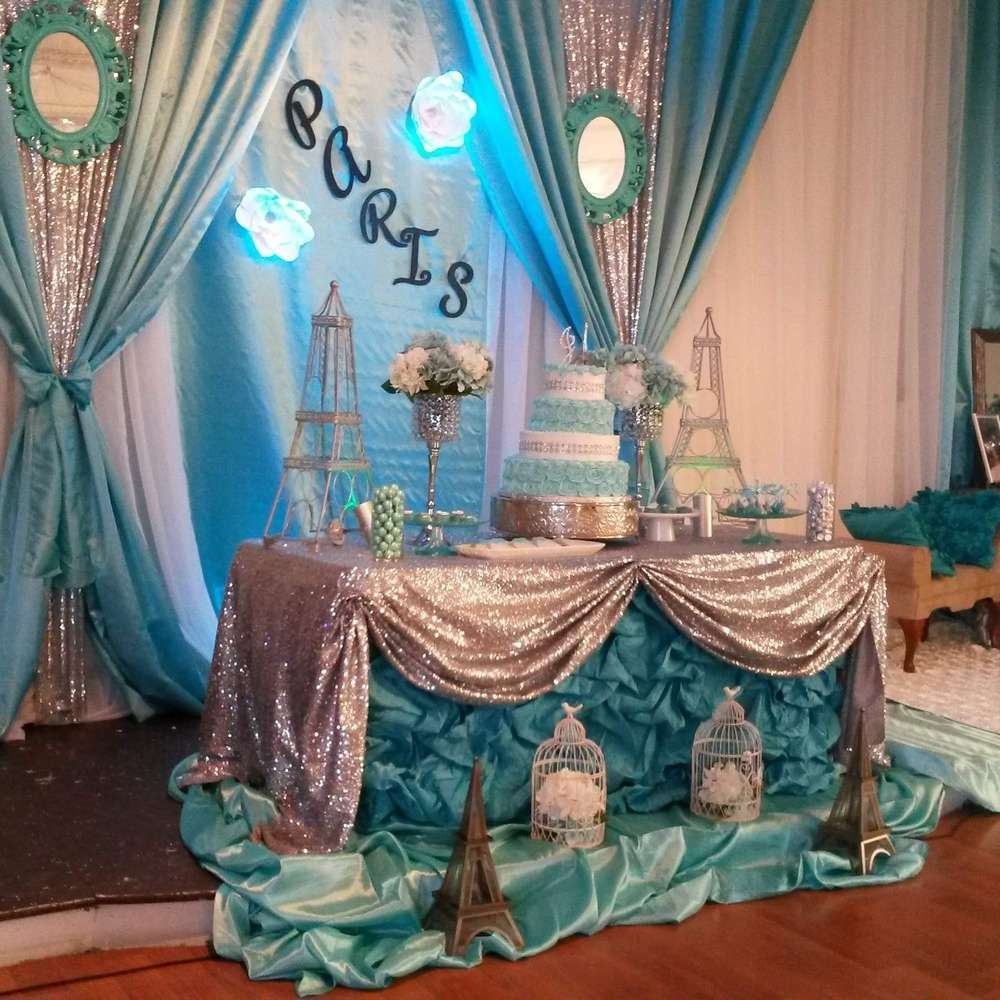 Paris sweet fifteen Birthday Party Ideas | French Parisian ...