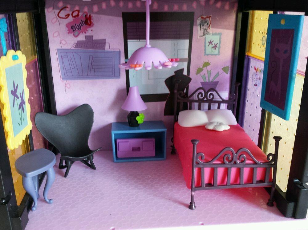 littlest pet shop lps blythe bedroom style set with accessories hasbro ebay seller On blythe bedroom