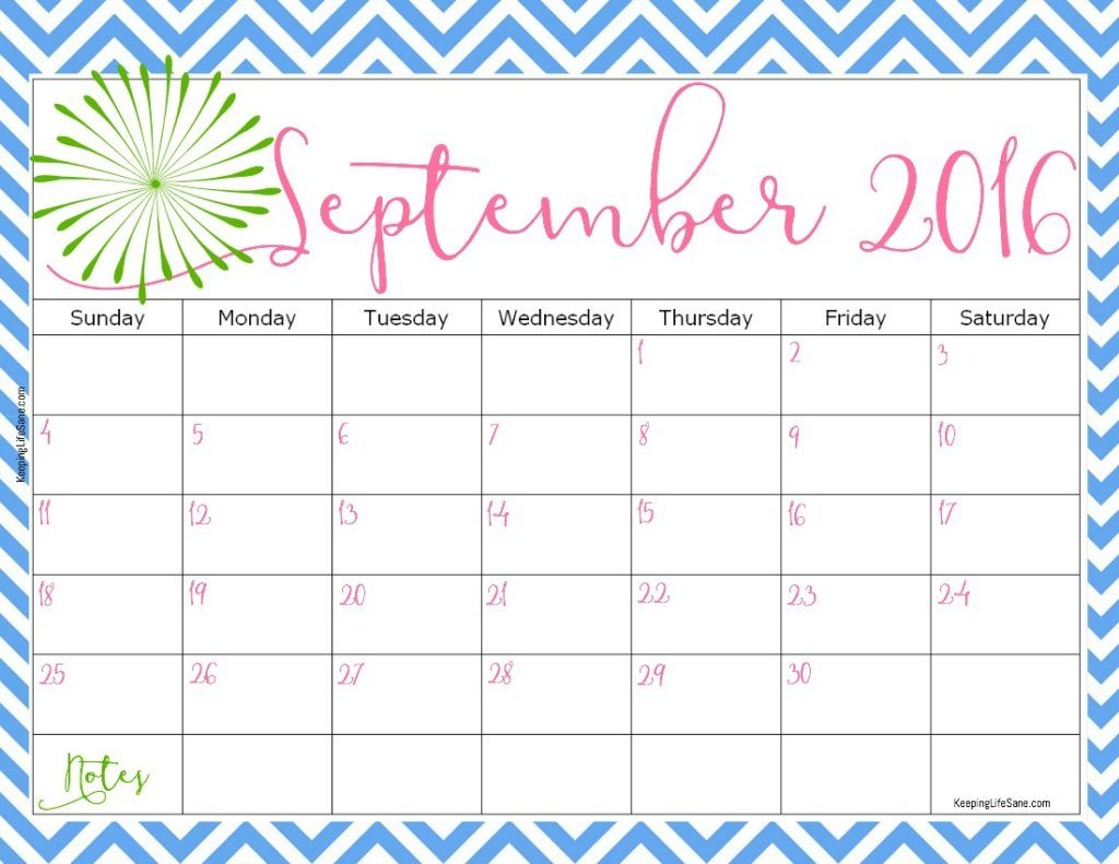 September  Calendar Cute  September Month    Free