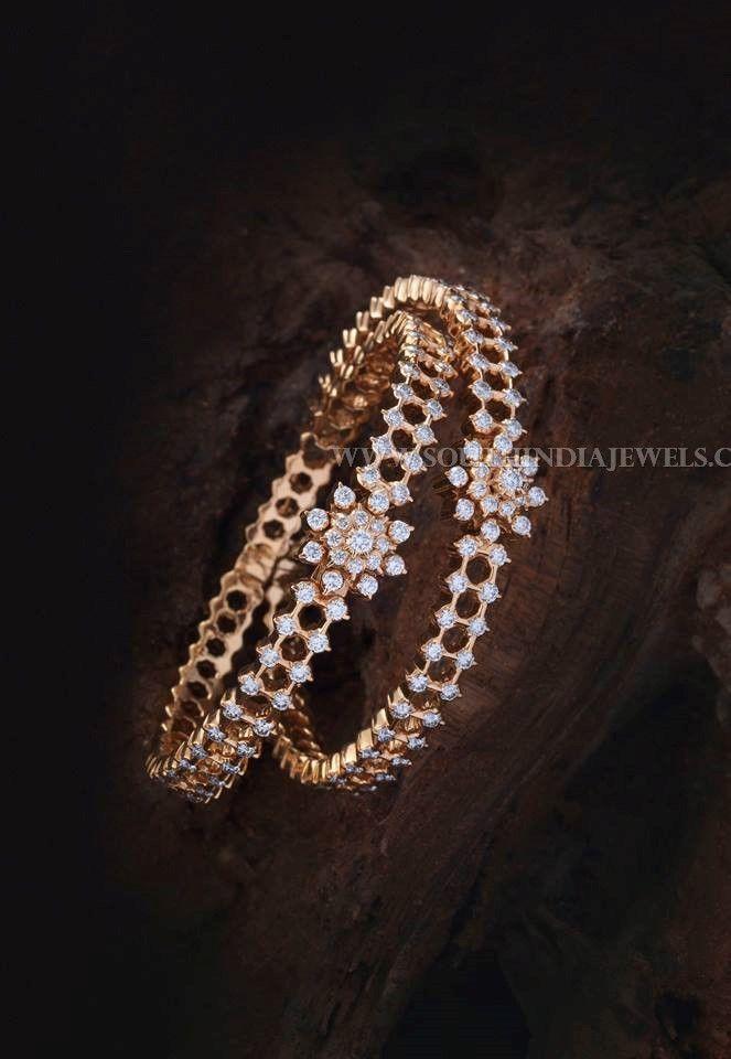 21cda7ffbe3fce Gold Diamond Bangle Designs With Price Details, Diamond Bangles With Price  in Rupees.