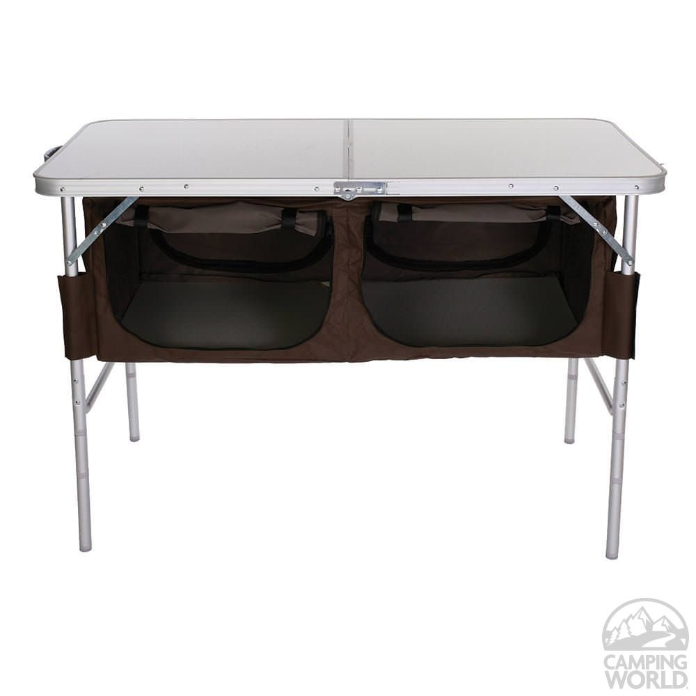 Folding Table With Storage Bins   Four Corners XYT 073 DS   Picnic Tables