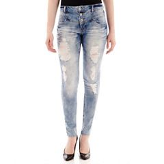Blue Spice Destructed High-Waist Skinny Jeans