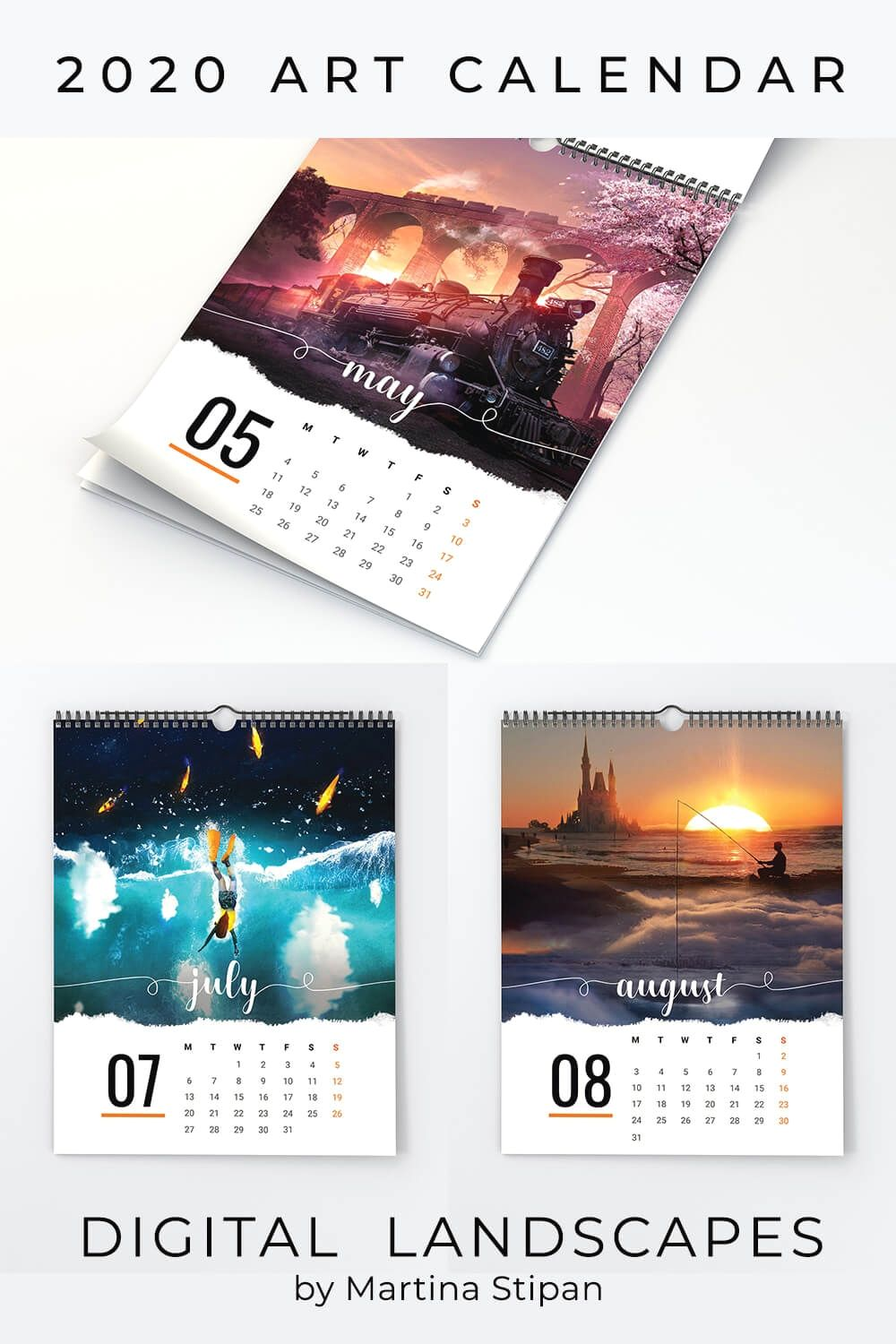 2020 Printable Calendar Template Add your own photos