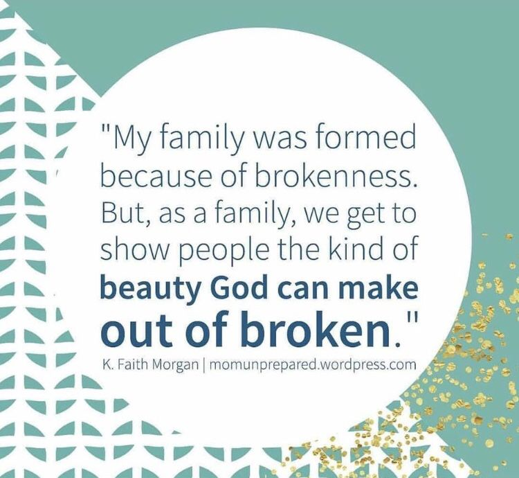 God makes beauty out of our pieces. #adoptionquotes