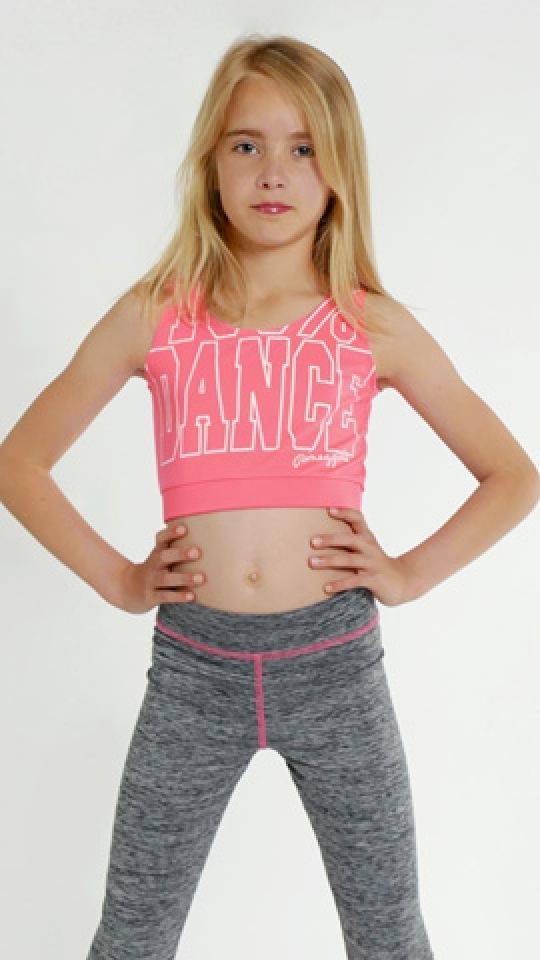 Girls' Crop Top | Kids swimwear girls, Girls fashion tween ...