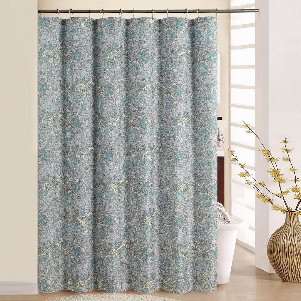 Waverly Paddock Shawl Shower Curtain, Green