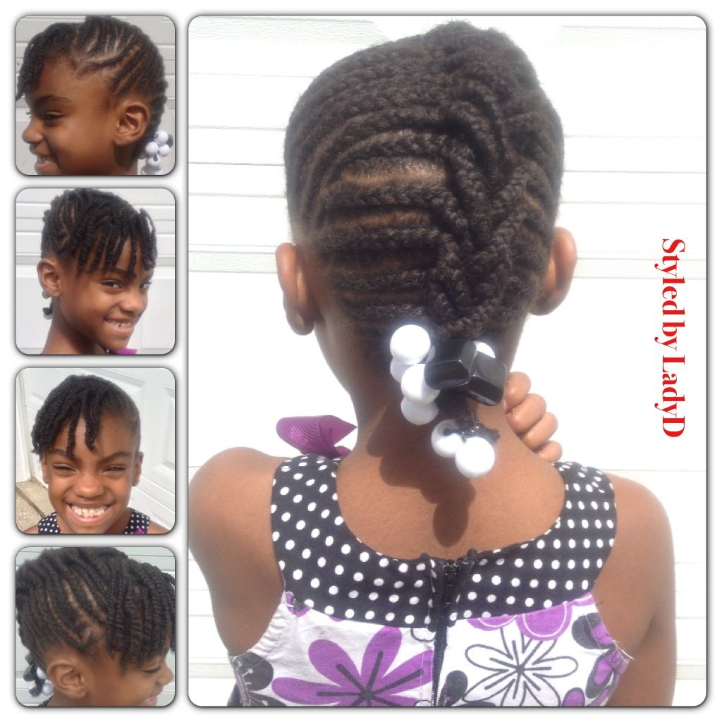 Little lady loves her natural hair and wanted a mohawk protective