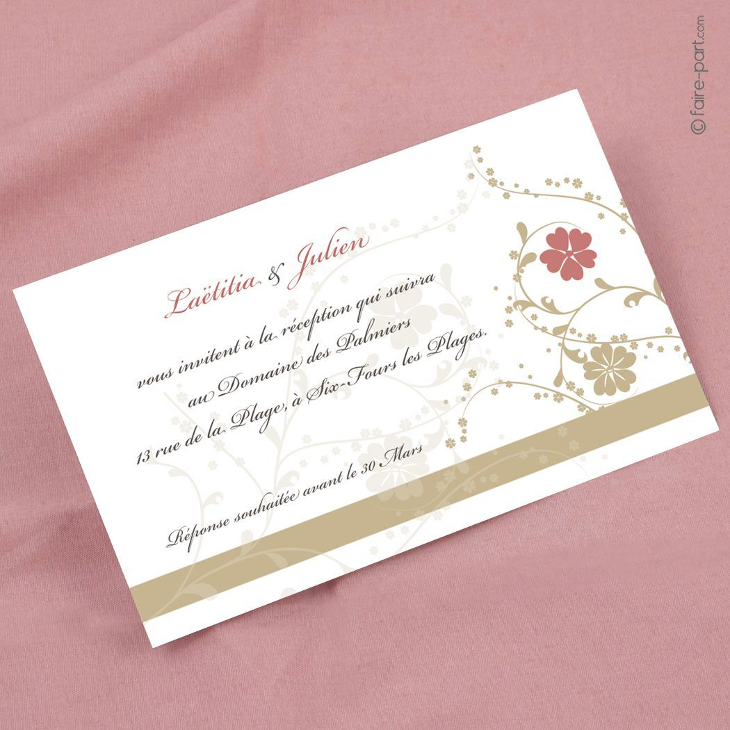 Carte Anniversaire Carte D Invitation Mariage Carte