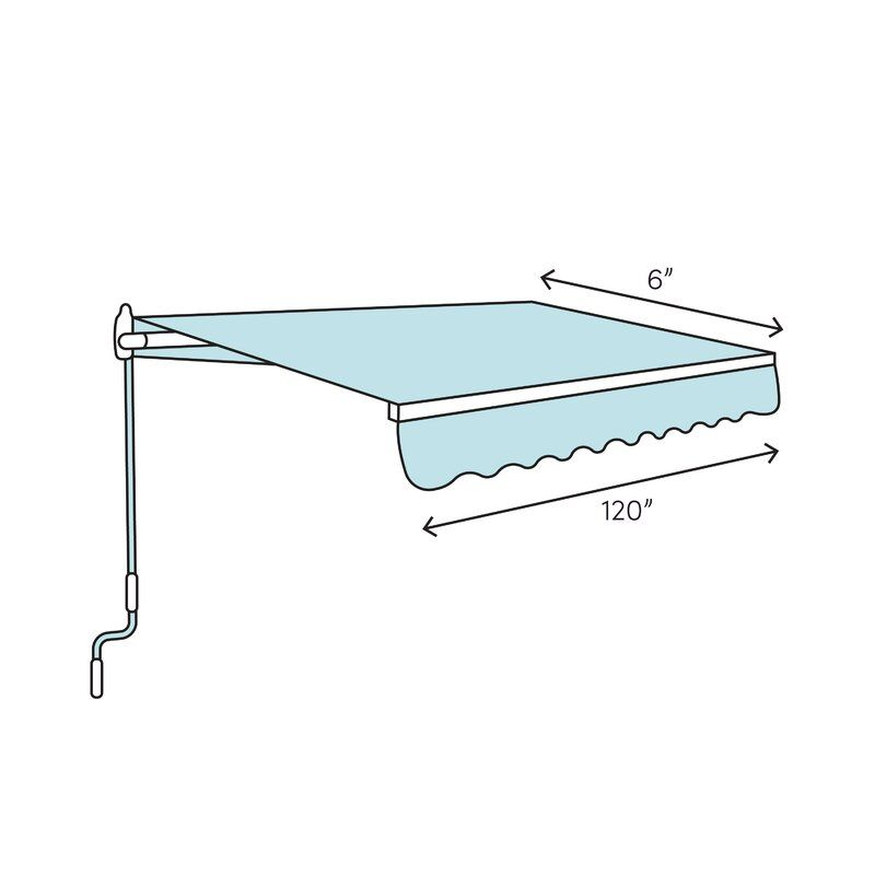 Aleko 10 Ft W X 8 Ft D Fabric Retractable Standard Patio Awning Reviews Wayfair In 2020 Patio Awning Door Awnings Window Awnings