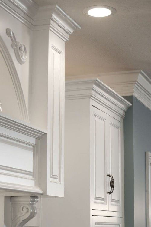 Add Crown Moulding To The Top Of Cabinets For