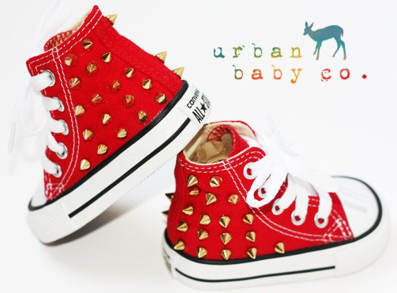 boys red high top converse