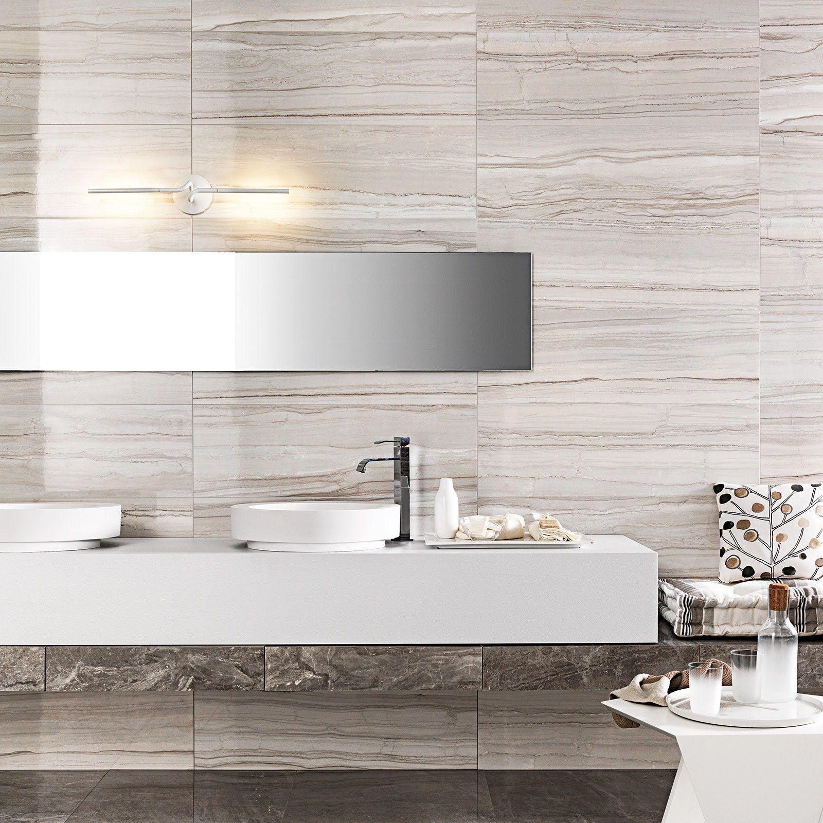 Marmi Elegance Striato Rectified Wall Tile Bathroom Wall Tile