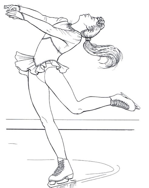 barbie ice skating coloring pages - photo#13