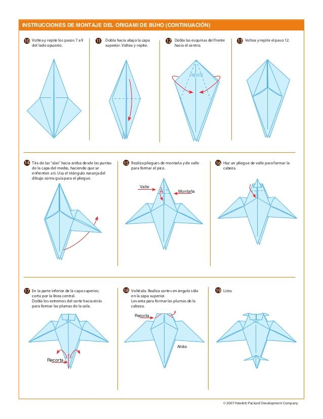 origami buho