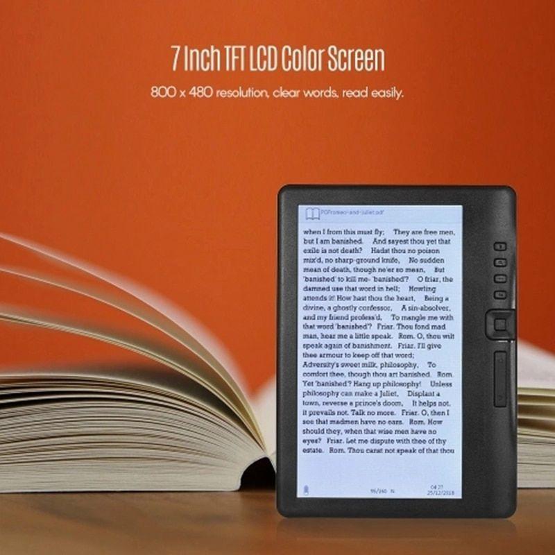 E Book Portable E Reader Glare Free Built In 4gb Memory Storage Creen E Ink 7 Inch 800 X 480p Ebook Backlight Likebook Battery In 2020 E Book Ebook Ebook Reader