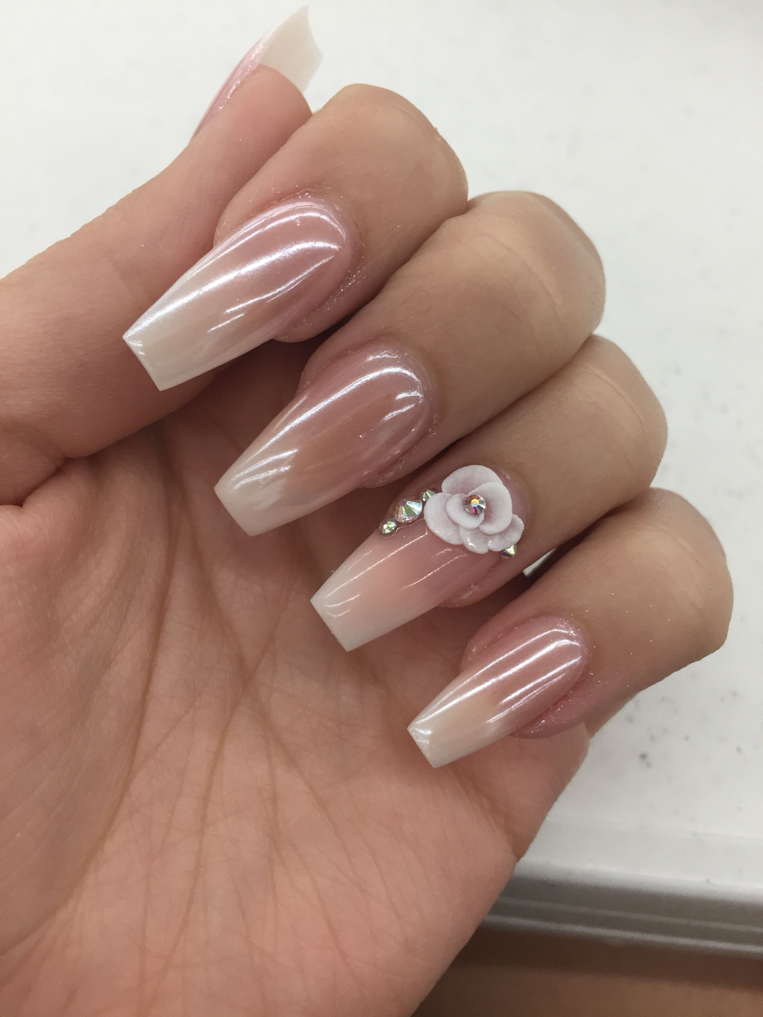 Pin By Cassandre Edwine Joseph On Nail Designs American Manicure Nails Gel French Manicure Flower Nails