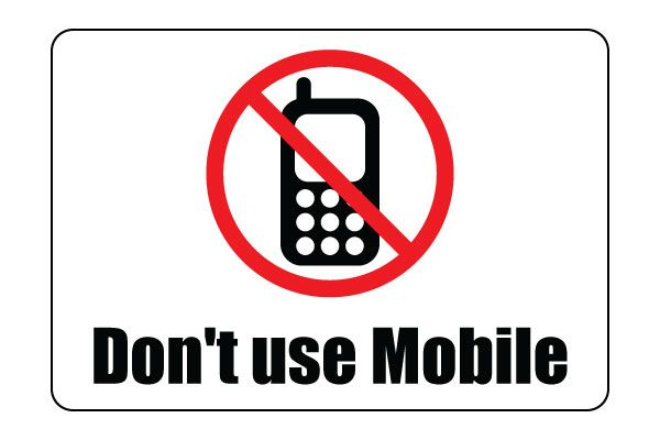 printable don t use mobile sign free download pdf other signs