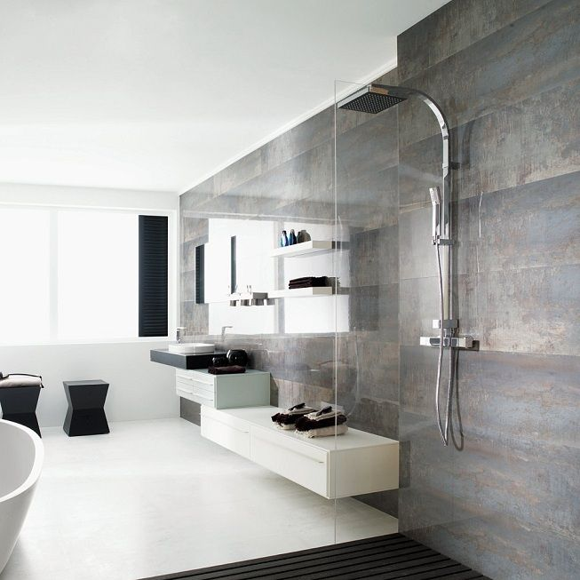 Venis ruggine wall tiles jacobsen nz bathrooms modern for Porcelanosa bathroom designs
