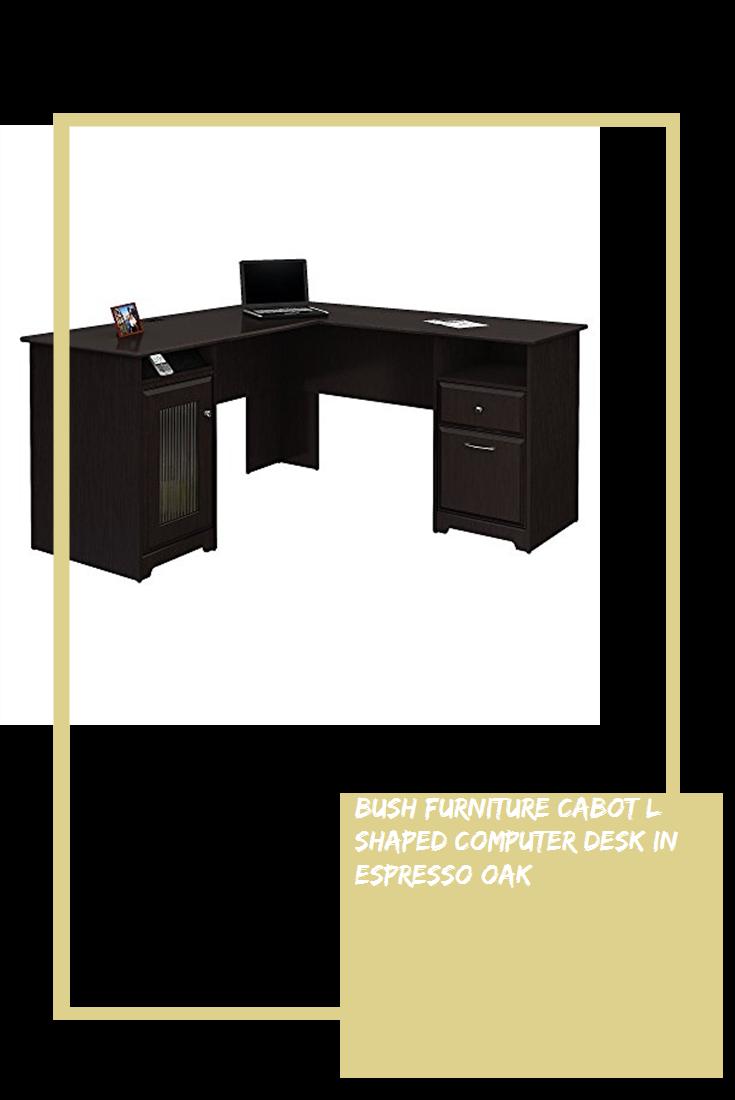 Bush Furniture Cabot L Shaped Computer Desk In Espresso Oak Furniture Furniture L Shape Furniture Sale