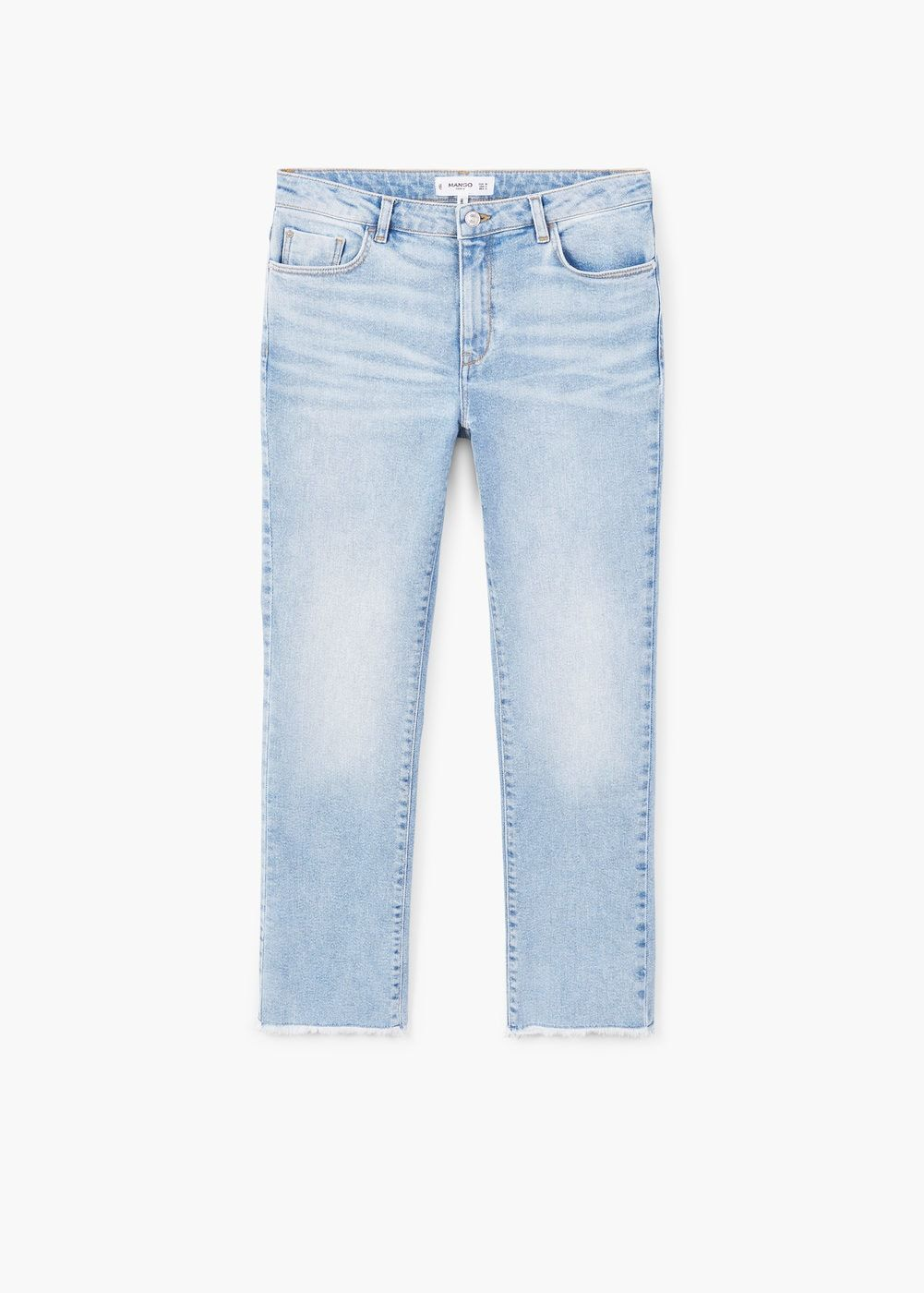 Jeans jandri straight de Mujer España Vaqueros MANGO crop OSqgw4