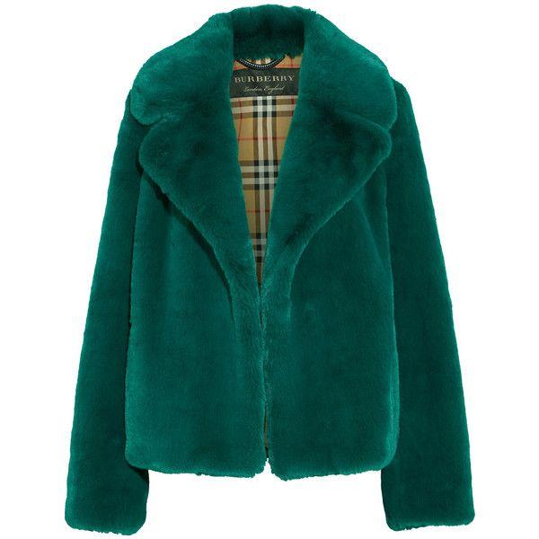 Miss real mint green faux fur coat