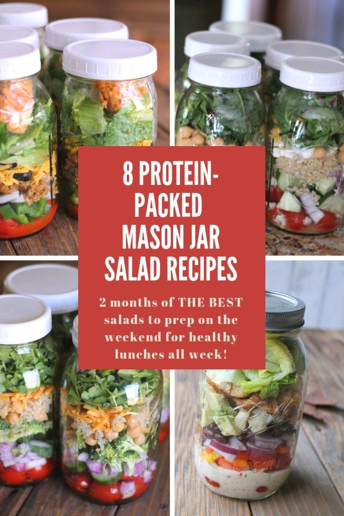 8 Protein-packed Mason Jar Salad Recipes You Need To Make This Weekend! -   13 healthy recipes For The Week veggies ideas