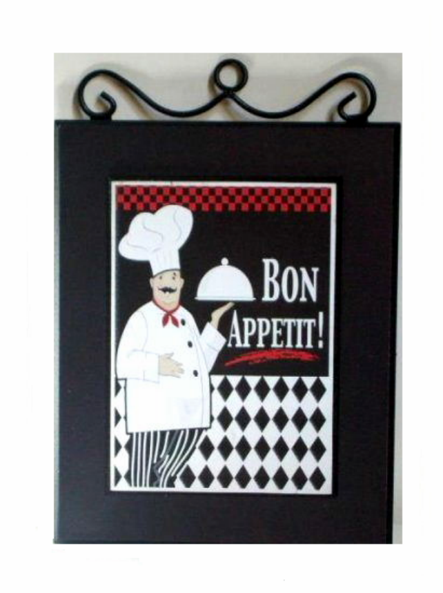 The perfect plaque for your chef themed kitchen with the words Bon ...