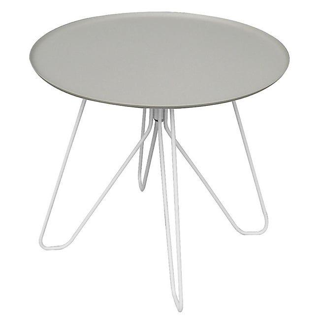 Egg Table basse de jardin grise en acier galvanisé | Jardin ...