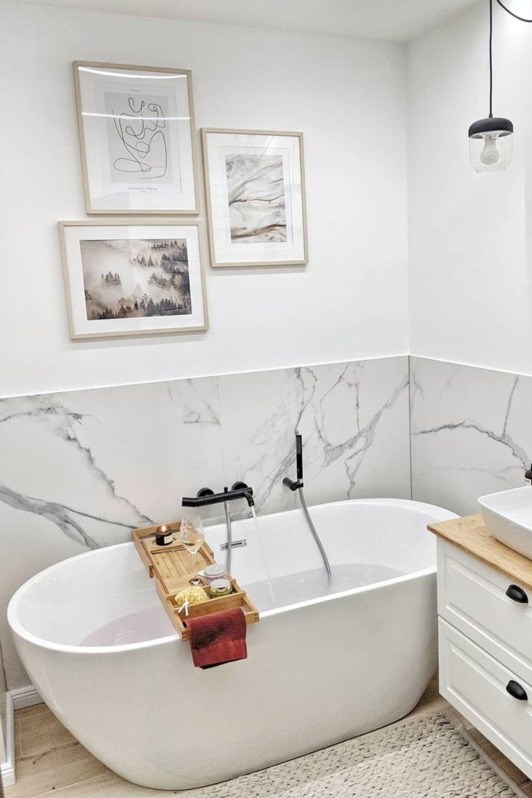 Vasca Da Bagno Freestanding Ovale In Acrilico Bianco Nevis Nel
