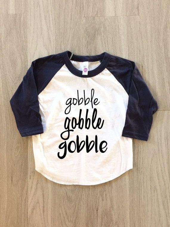 cf2fafaea2 Cute toddler Thanksgiving shirt! Gobble Gobble Gobble Thanksgiving tshirt -  baby boy or girl clothes toddler shirt - Thanksgiving shirt #affiliate