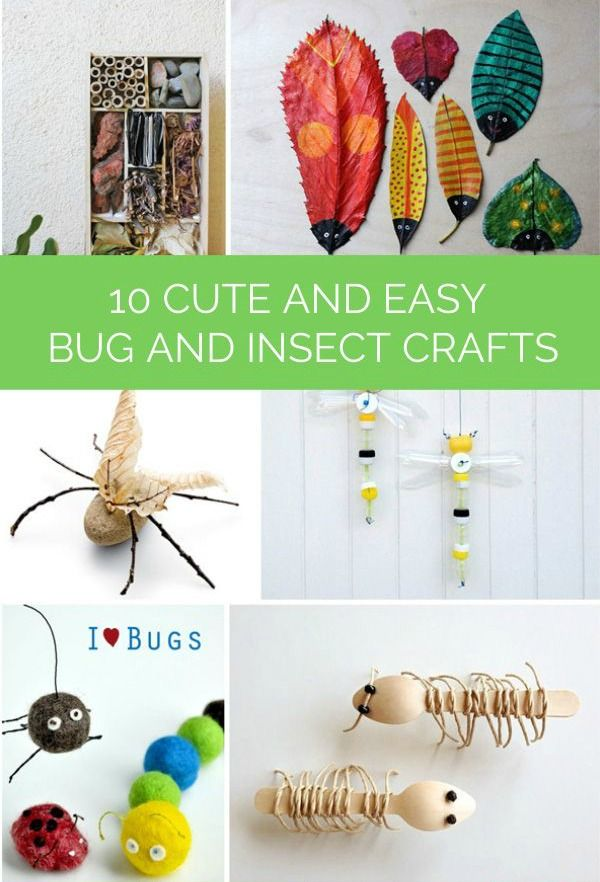 With spring comes insects and outdoor play! Why not get creative with your kids and make cute bug-inspired crafts that you can use to teach them about these little critters?