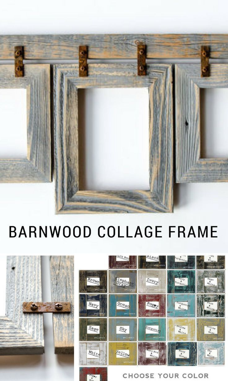 Etsy - Barnwood Collage Frames. Available in sizes 4\