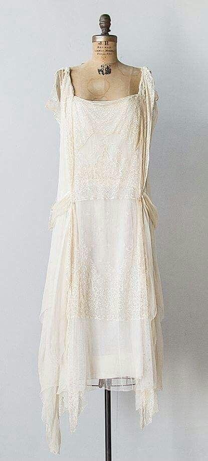 20 S Silk Fler Dress Vintage