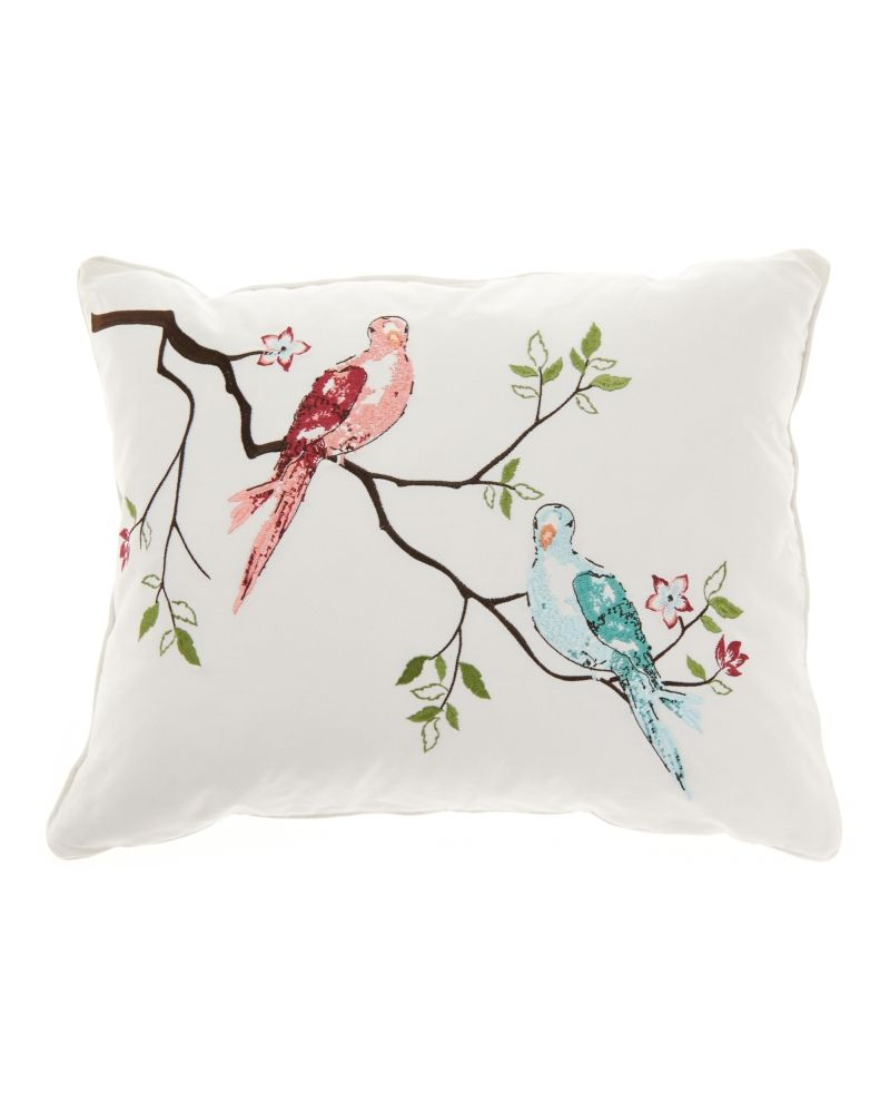 Nina Home At Stein Mart Aubree Birds Decorative Pillow