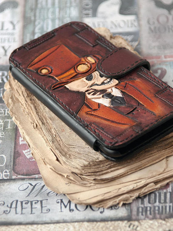 iphone 6 plus wallet skull case halloween wallet sugar skull iphone halloween iphone leather case sugar skulls wallet steampunk iphone case phone case