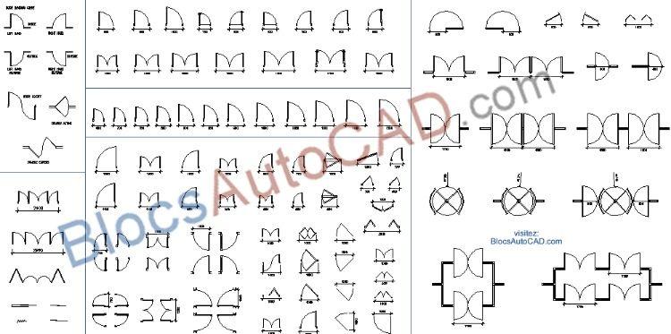 Étonnant Épinglé sur Blocs DWG AutoCAD bibliothèque BY-66