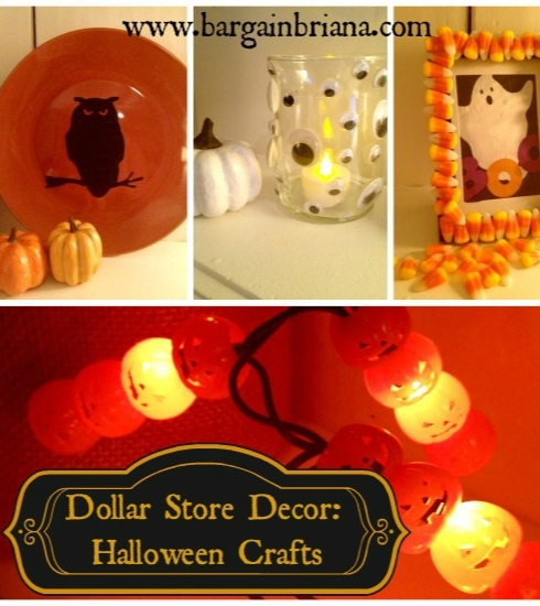 Dollar store decor halloween crafts dollar stores for Dollar store art