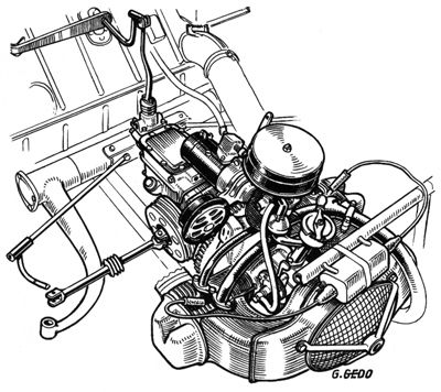 Exploded View Of A Citron 2 Cv Engine
