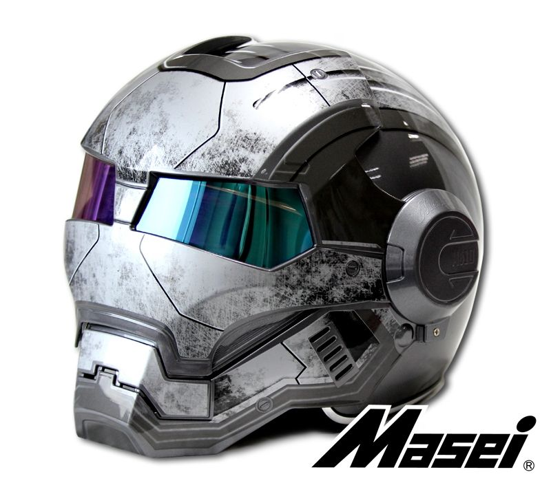 Iron Man Fit MASEI 610 Helmet Lenses Open Face Half Motorcycle Motocross ABS HQ