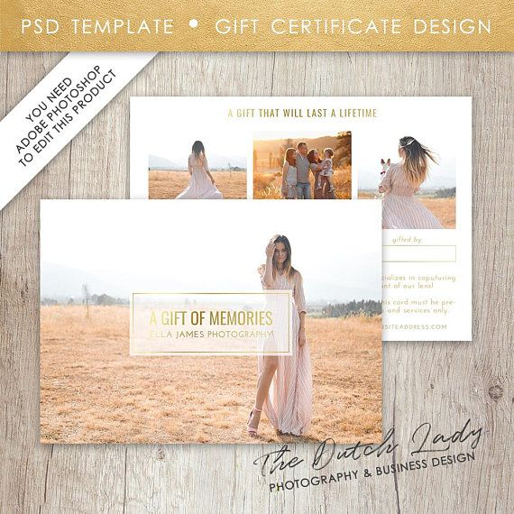 Photography Gift Certificate Template Photo Gift Card