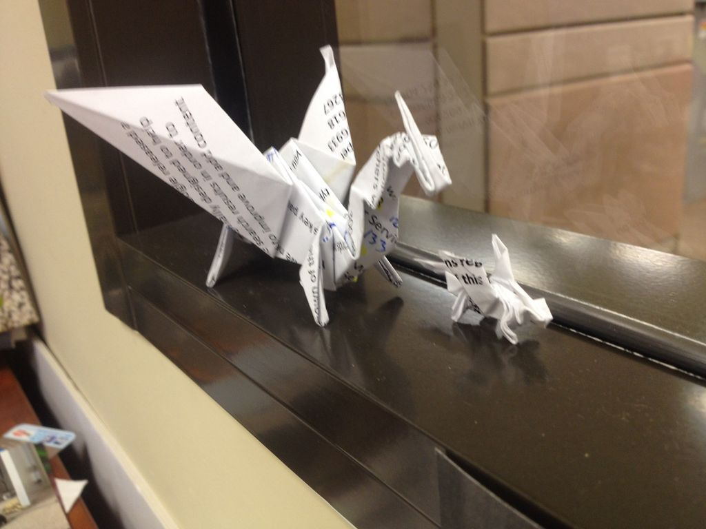 How To Fold An Origami Dragon Formydaughter Pinterest Diagram