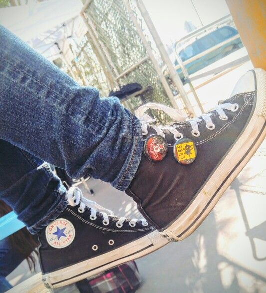 Converse and pins | Converse chuck taylor high top sneaker