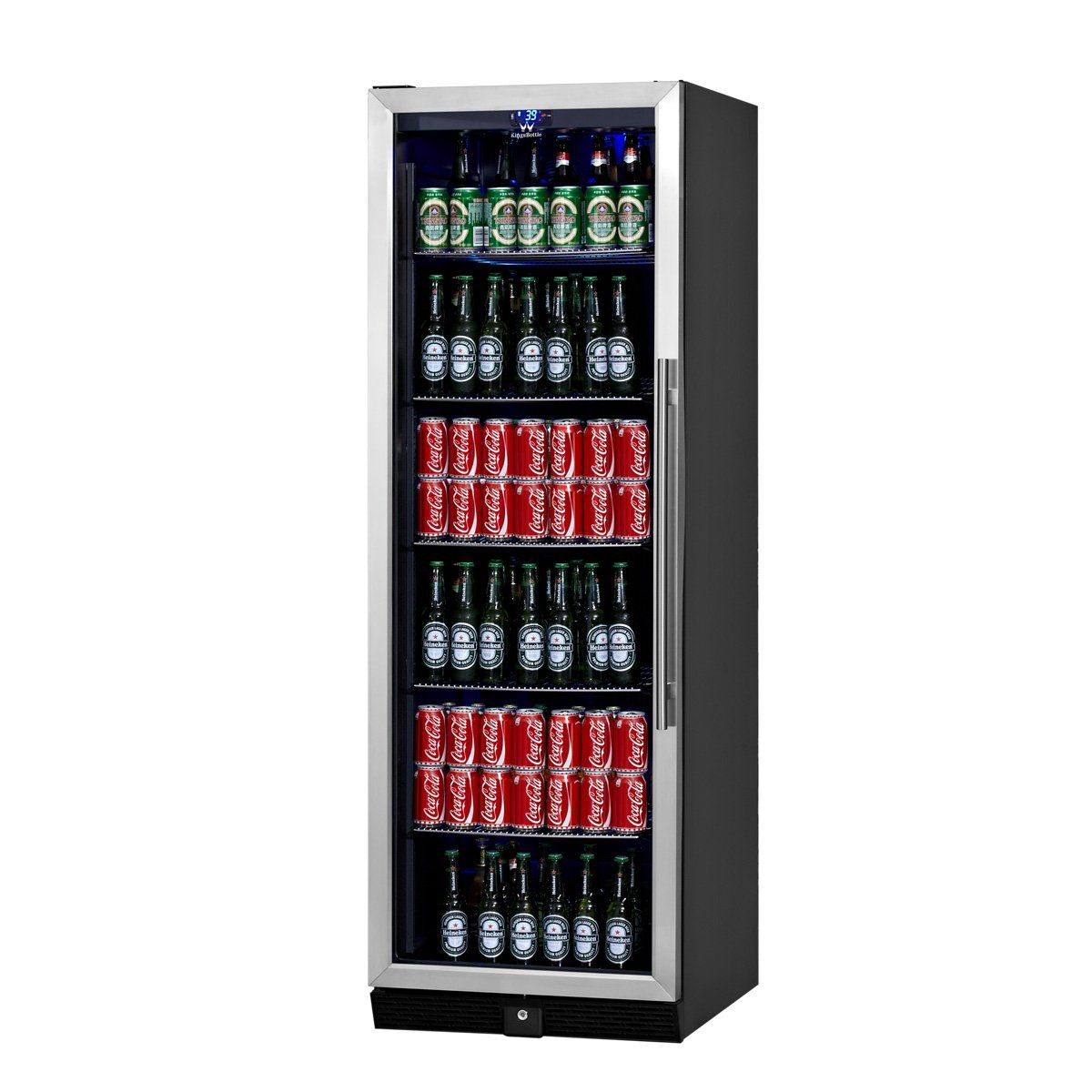 Kingsbottle Builtin Beer And Beverage Cooler Refrigerator 450 Can Dual Temperature Drinks Coole Built In Beverage Cooler Beverage Cooler Beverage Refrigerator
