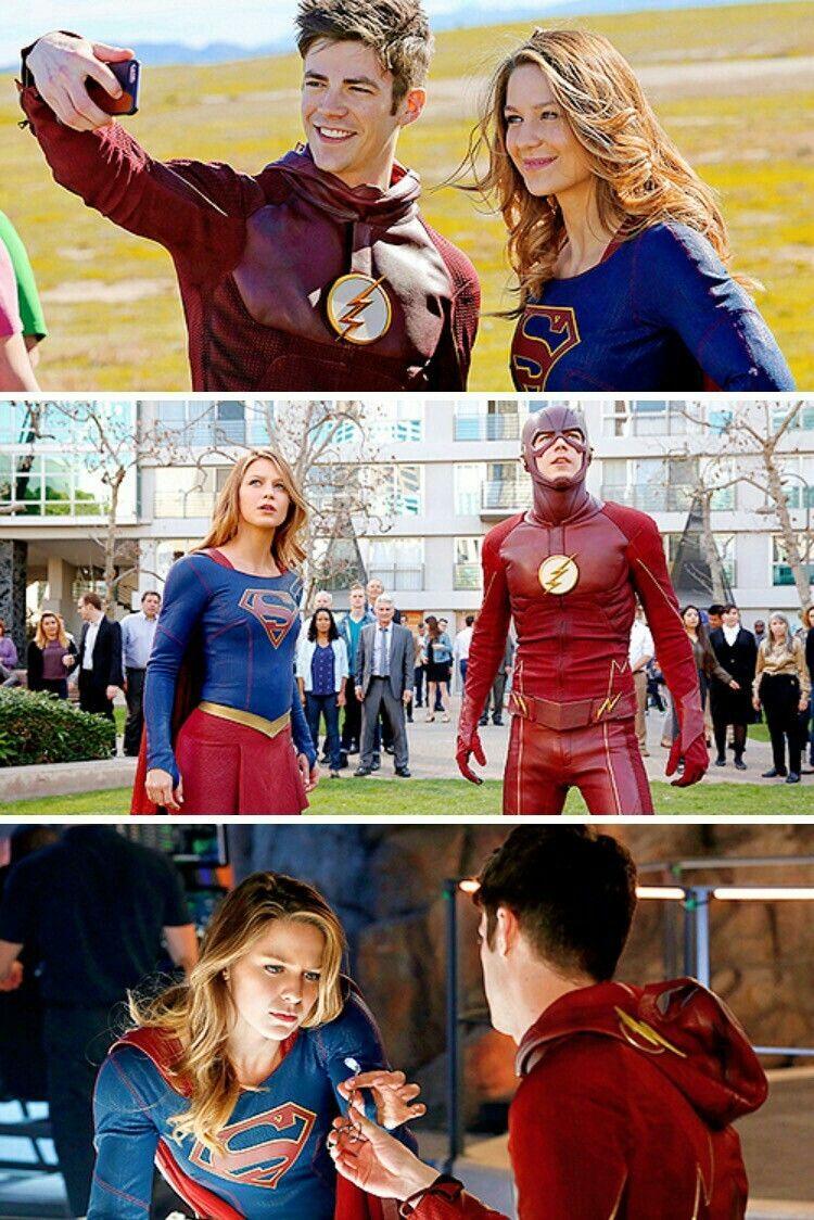 The Flash 2014 S02e16 Supergirl And Flash Supergirl The Flash