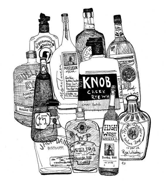 Personalized Home Bar Signs Bottles of Whiskey custom by KloRebel, $30.00