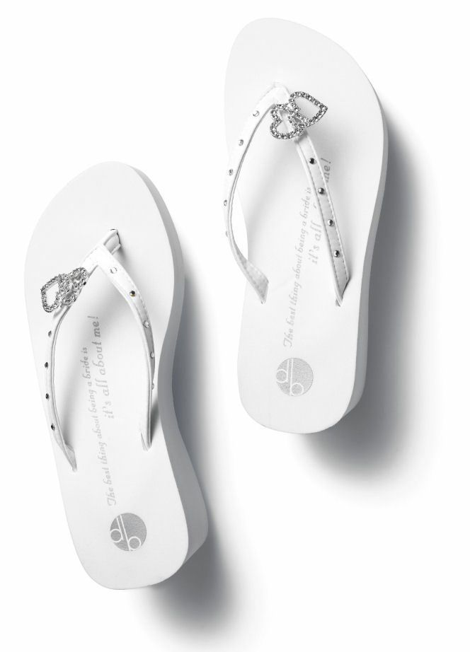 ef4a86a6177 Double Heart Bridal Flip Flops Platform by Girl Two Doors Down  54.00