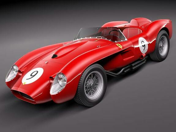 Stunning Ferrari F1- Bandini 1960/'s Original Extremely Rare! Car Poster :/>
