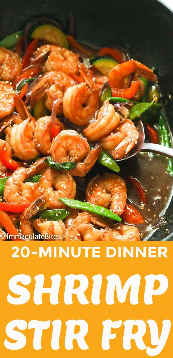Shrimp Stir Fry - Immaculate Bites #stirfrysauce