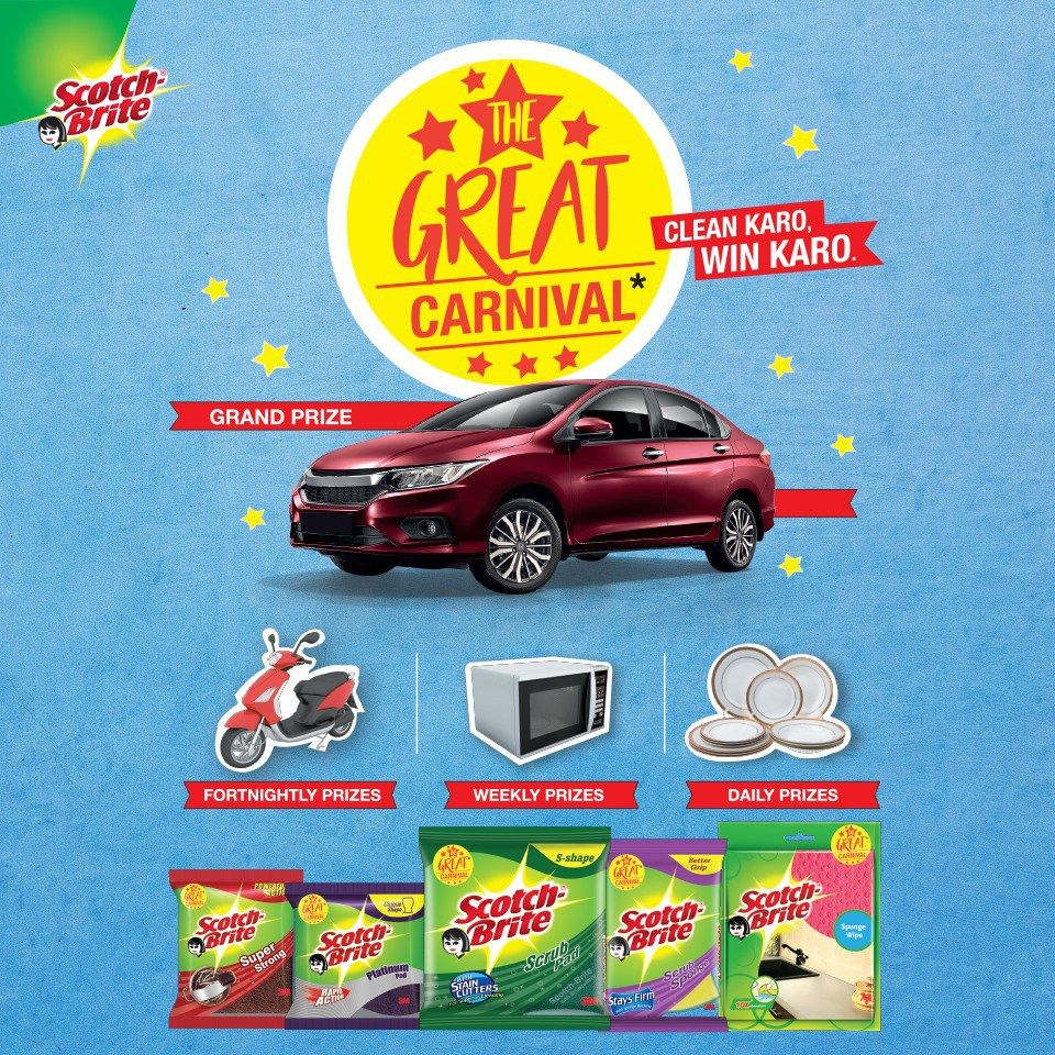 If you wants to win Grand Prize Honda Car, Scooty, Ovens